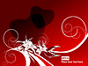 Vector clipart: red valentine`s day backdrop