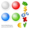 Vector clipart: web buttons and icons