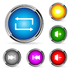 Vector clipart: web player buttons