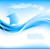 Vector clipart: blue seascape