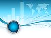 Векторный клипарт: синий корпоративный кадра