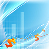 Vector clipart: growth statistic financial frame