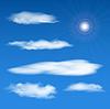 Vector clipart: sky elements set