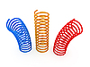 Color metal springs | Stock Illustration