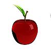 Красное стеклянное яблоко | Иллюстрация