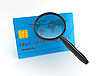 Photo 300 DPI: Credit Card with Magnifier
