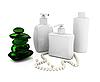 Photo 300 DPI: Set of spa bottles