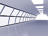 Photo 300 DPI: Tunnel with white walls