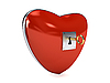 3d heart as lock with key   Stock Illustration