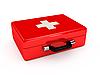 Photo 300 DPI: Red medicine chest
