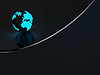 Dark background with earth globe | Stock Illustration