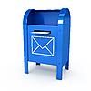 金属信箱 | 光栅插图