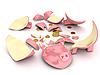 Broken piggy bank | Stock Illustration
