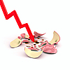 Crushed piggy bank | Stock Illustration