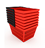 Shopping baskets | Stock Illustration