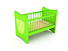 Newborn`s bed | Stock Illustration