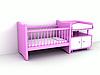 新生儿的床 | 光栅插图