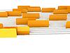 Białe foldery z zakładkami | Stock Illustration
