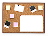 Corkboard with note papers | Stock Illustration