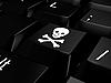 Фото 300 DPI: Клавиша клавиатуры с черепом и костями