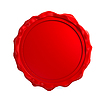 Red wax seal | Stock Illustration