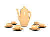 Teapot and cups | Stock Illustration