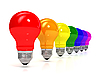 Rainbow of bulbs | Stock Illustration