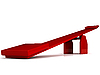 Red seesaw | Stock Illustration