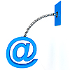 E-mail sign on spring | Stock Illustration