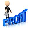 3d person raises profit | Stock Illustration