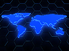 ID 3320118 | 3d blue glowing map over black | High resolution stock illustration | CLIPARTO