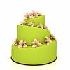 Weddind ciasto z kwiatów na białym tle | Stock Illustration