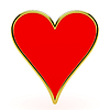 Photo 300 DPI: Hearts card suits with golden framing