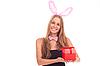 ID 3092609 | 여자 선물 토끼로 옷을 입고 | 높은 해상도 사진 | CLIPARTO