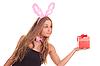 ID 3092615 | 여자 선물 토끼로 옷을 입고 | 높은 해상도 사진 | CLIPARTO