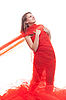 Beautiful girl in red clothes | Stock Foto