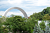 Arch of Friendship of Peoples in Kiev | Stock Foto