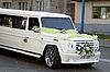 Wedding limo rides around town | Stock Foto