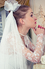 The bride prays before the wedding | Stock Foto
