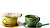 ID 3332503   Green and yellow cups with muffin and coffee beans   Foto stockowe wysokiej rozdzielczości   KLIPARTO