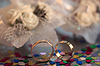 Two wedding rings on background | Stock Foto