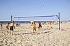 Photo 300 DPI: Volleyball on sandy beach in Jurmala in Latvia