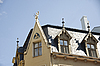 Riga. Architectural ornaments on roof | Stock Foto