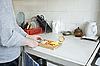 Preparation of vegetables on kitchen | Stock Foto