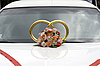 Wedding decorations on car | Stock Foto