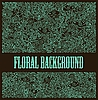 Vector clipart: floral decorative background