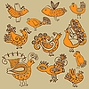 Vector clipart: decorative birds