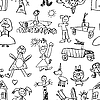 Kids drawing - seamless pattern