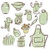 Vektor Cliparts: Hause Symbole