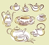 Vektor Cliparts: tea time Set